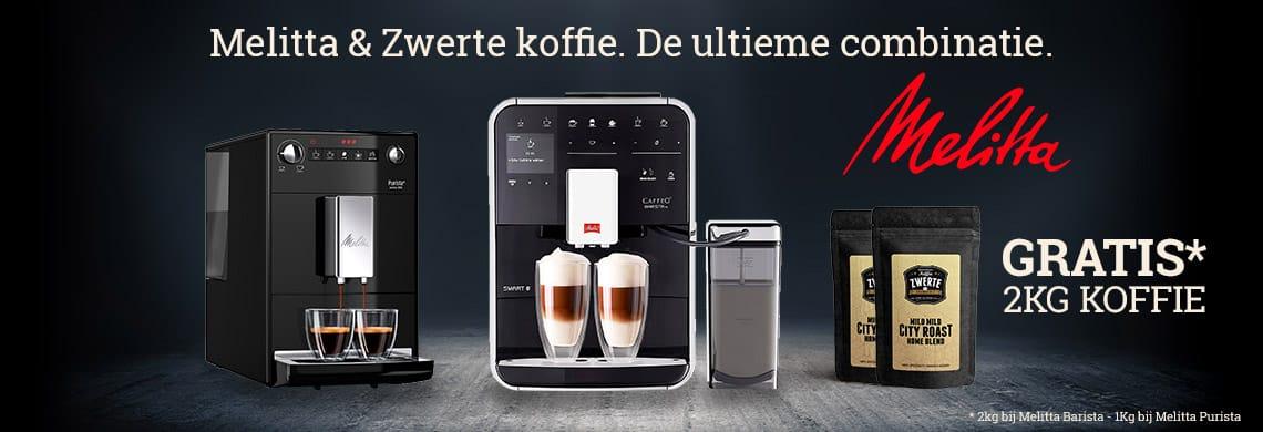 Melitta Actie - koop een Melitta Barista en krijg 2KG Zwerte koffie gratis - 1KG bij Purista